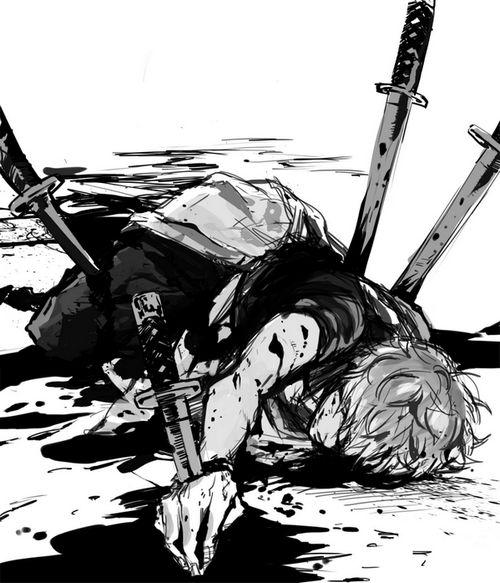 I ... I can barely even breathe... someone, please help me. *coughs up blood* Why... why won't I die? Why must I be immortal? *coughs and groans in pain* P-please... kill me.