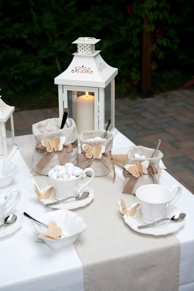 Allestimento confetti per matrimonio