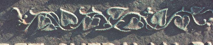 The ivy vine on Daniel Burnham's gravestone. Island at the lagoon, Graceland cemetery, Chicago