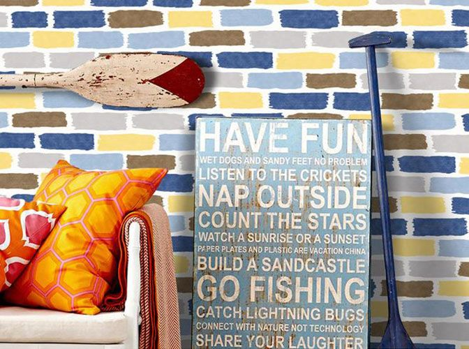 Mediterranean Style Embossed Wallpaper PVC 3D Roll Modern Brick Stone Decorative Wall paper For Bedroom Wall TV Kids Children