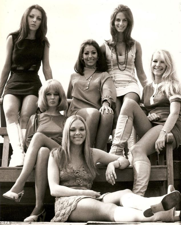 Pan's People pictured: Louise Clarke (top left) with Flick Colby (front) and (left to right) Andrea Rutherford, Ruth Pearson, Dee Dee Wilde and Babs Lord. The group made their final appearance on Top of the Pops in April 1976