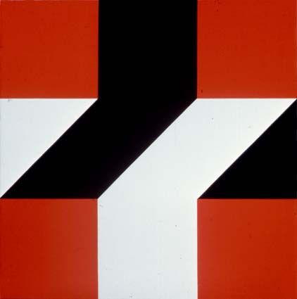 """Frederick Hammersley (1919-2009) Critically acclaimed American abstract painter whose participation in landmark 1959 Four Abstract Classicists exhibit secured his place in art history. Hammersley wrote in an exhibition catalog, """"hard-edge is often very hard to take, coming to it cold—or, even to the practiced eye"""". He expanded his repertoire beyond hard-edge, dividing his art into three categories: """"hunches"""", """"geometrics"""", & """"organics"""". ~Repinned Via Pamela Scott"""