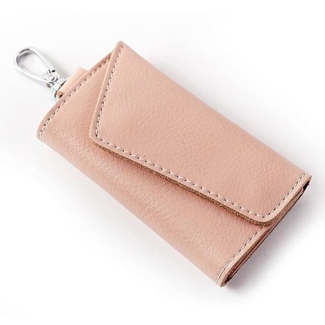 Fashion Split Cow Leather Waist Hanging Key Holder Wallet Women Men Travel Keys Organizer Bag Pouch Mini Porte Cle Pocket Case Car Key Holder Key Holder Wallet Wallets For Women