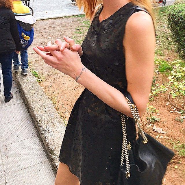 Monday details. #giuliashandmadeclothing#armavir#dress#shirt#leather#black#streetstyle#girl#tattoo#newdesigner#details#totalblack#flashcollection#newcollection#aw14_15#giulias#newbrand