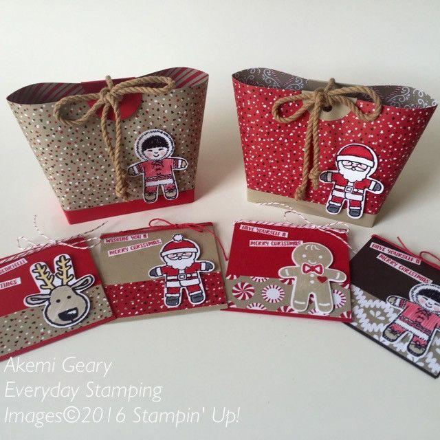 Stampin' Up! 手作りカード クッキーカッタークリスマス ミニカードとトートバッグ | Everyday Stamping 〜スタンピン・アップ ! 癒しのペーパークラフト〜