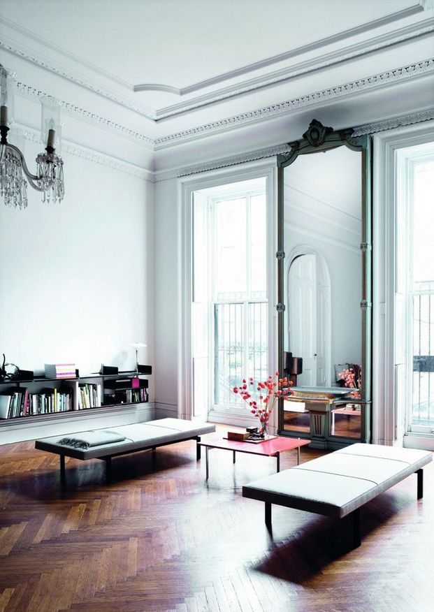 Photo of an eclectic living room Decorating With Mirrors