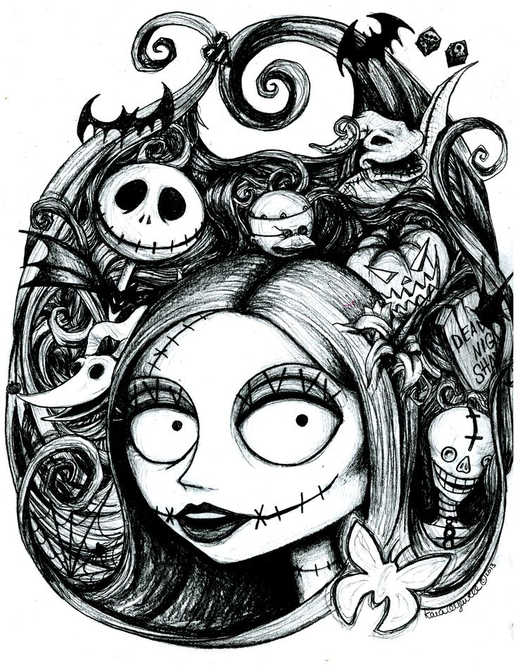 Sally's Nightmare by The Artwork of Kara Yowell Kyowell.deviantart.com on @deviantART halloween nightmare before christmas fan art https://www.facebook.com/TheArtworkOfKaraYowell