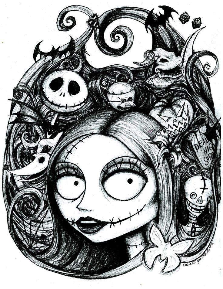 Sally's Nightmare by The Artwork of Kara Yowell Kyowell.deviantart.com on @deviantART halloween nightmare before christmas fan art https://www.facebook.com/TheArtworkOfKaraYowell