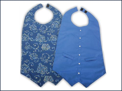 XL Blue Vest Adult Bib Clothing Protector ON SALE FOR $10.00 a inexpensive option