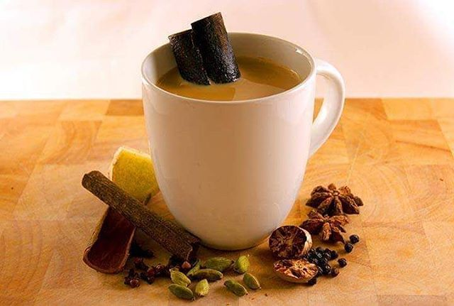 Let's have a small taste of #India ... #masalachai is a delicious popular hot #beverage , made of #blacktea and a mixture of #indianspices . Enjoy!