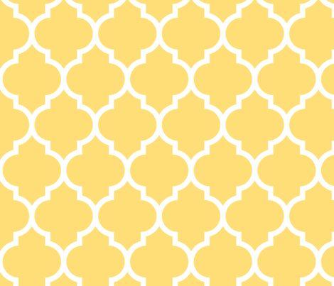 moroccan quatrefoil lattice in lemon yellow fabric by spacefem on Spoonflower - custom fabric