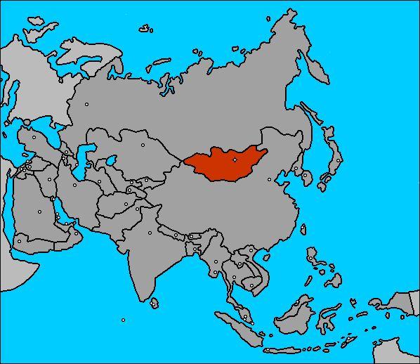 Mapa de Mongolia (Asia)
