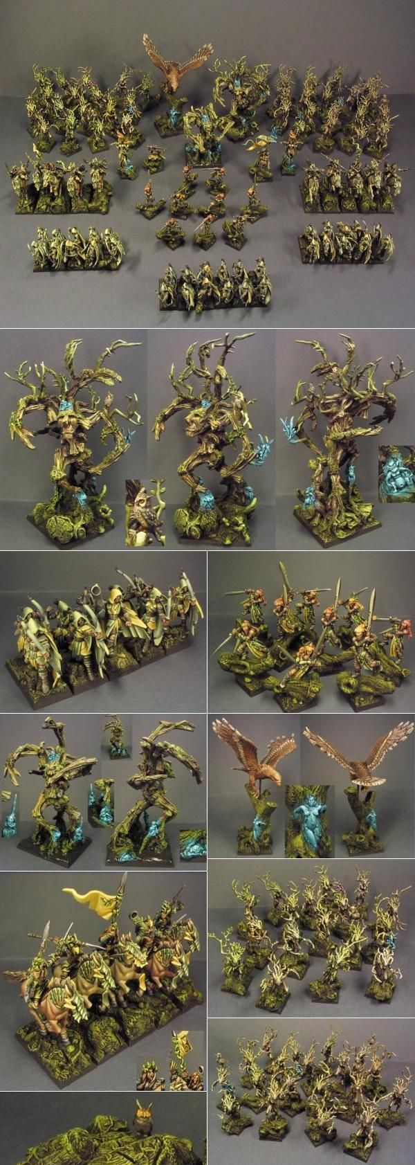 High elf army forest theme By: WSP | Elf miniatures | Pinterest ...