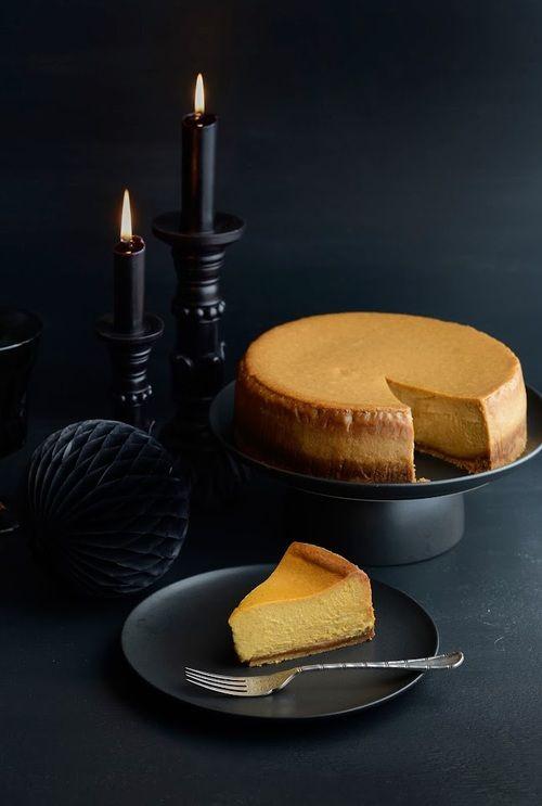 Halloween Maple Spiced Pumpkin Cheesecake | From The Kitchen