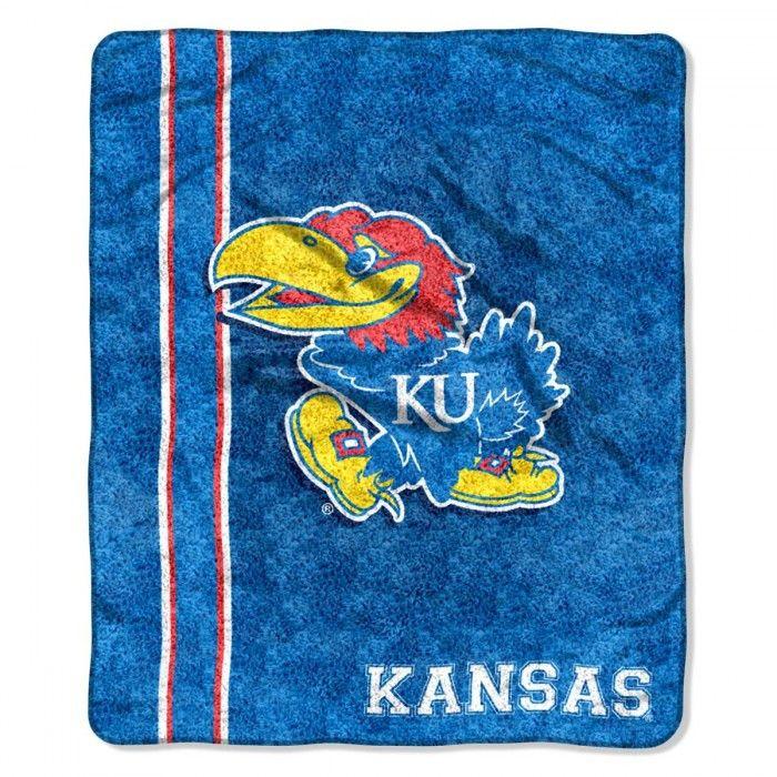 ~Kansas Jayhawks Blanket 50x60 Sherpa Jersey Design~backorder