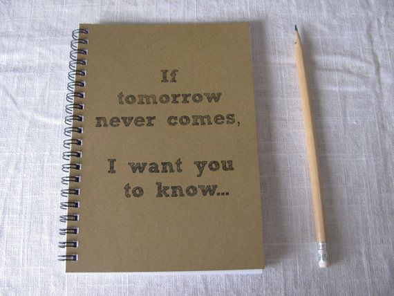 If tomorrow never comes I want you to know.... by JournalingJane