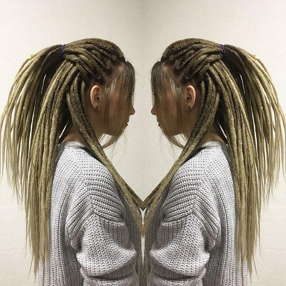 a178756cb6f2c 10/16S CROCHET OMBRE DREADS blonde/beige. full set double ended ...