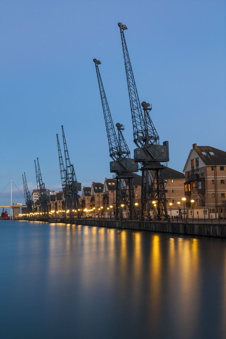 Royal Victoria Dock - View of where we lived for Josh and Nat