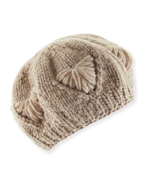 Il Borgo Cashmere Knit Beret Hat: