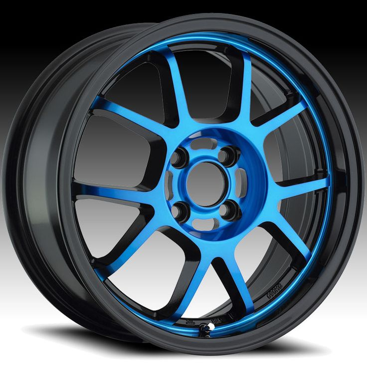 KONIG 4L6751440D Foil Blue Wheels with Gloss Black Lip