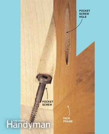 Building Cabinets With Pocket Screws | The Family Handyman