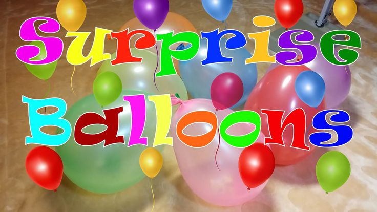 Surprise Balloons!!! Learn the Colors!
