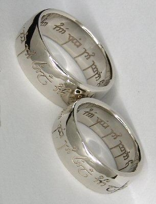 """I found 'Elvish Wedding Rings """"One ring to show our love, one ring to bind us, one ring to seal our love and forever entwine us.""""' on Wish, check it out!"""
