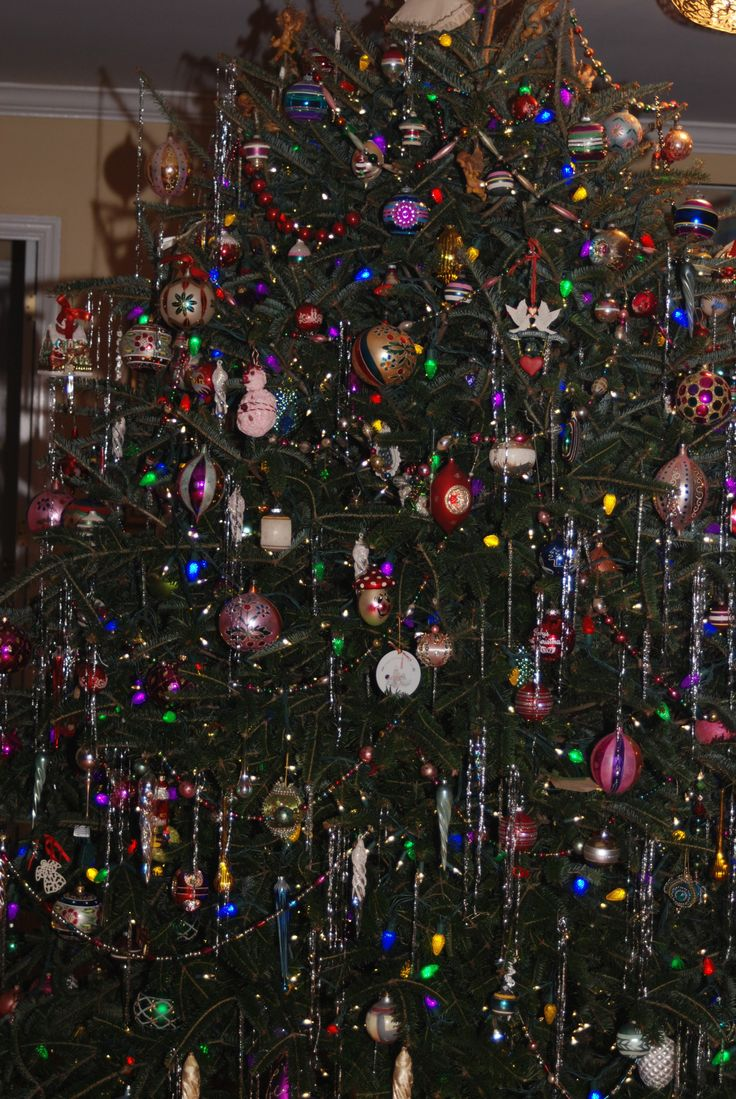Christmas tree … sneak peek vintage ornaments
