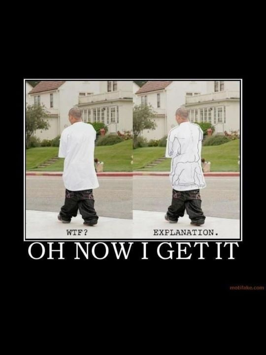 bahah sagging is ugly anyways
