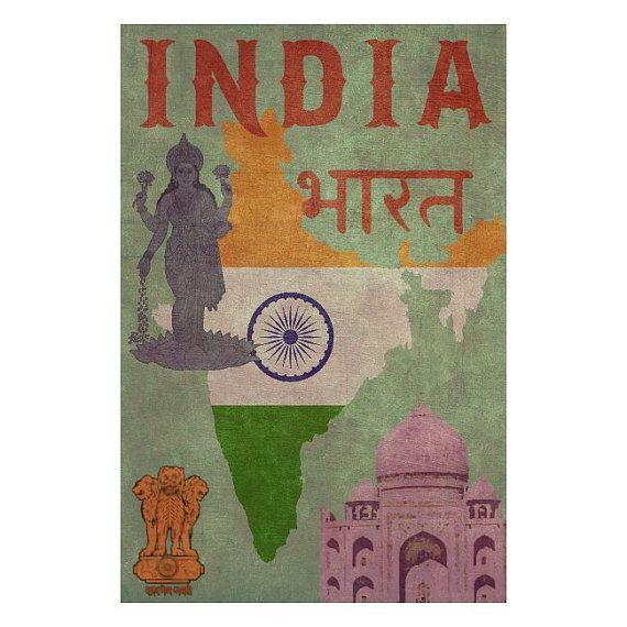 Handmade Leather Passport / Ticket Holder - INDIA 1F- Travel Art