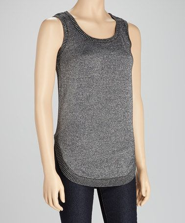 Take a look at this Black Sparkle Tank by Michael Brandon on #zulily today! 14.99