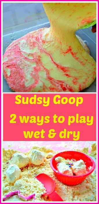 Playing with wet and dry goop. Extend the life of goop..#sensoryactivities