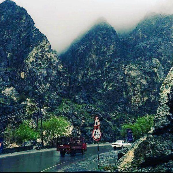 """""""Daždivé dni #Kabul #Nangarhar diaľnice"""