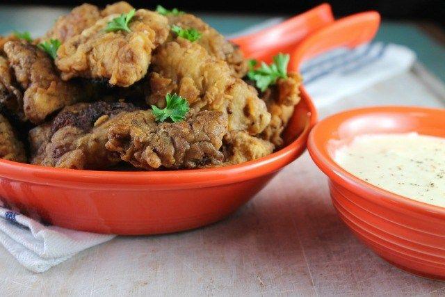 Chicken Fried Steak Bites with Country Gravy ~ Missinthekitchen.com