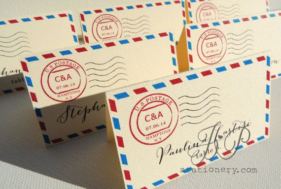 Wedding Stationery  Escort or Place Card's  Post by JPstationery