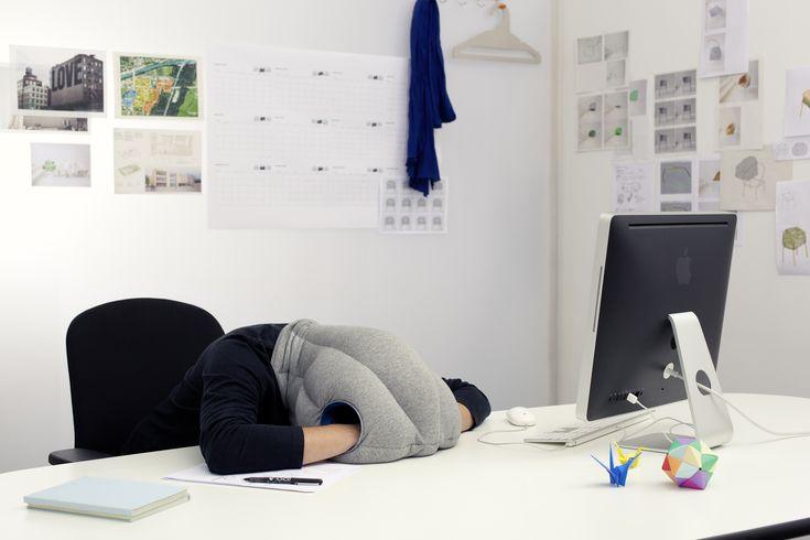 Ostrich pillow.