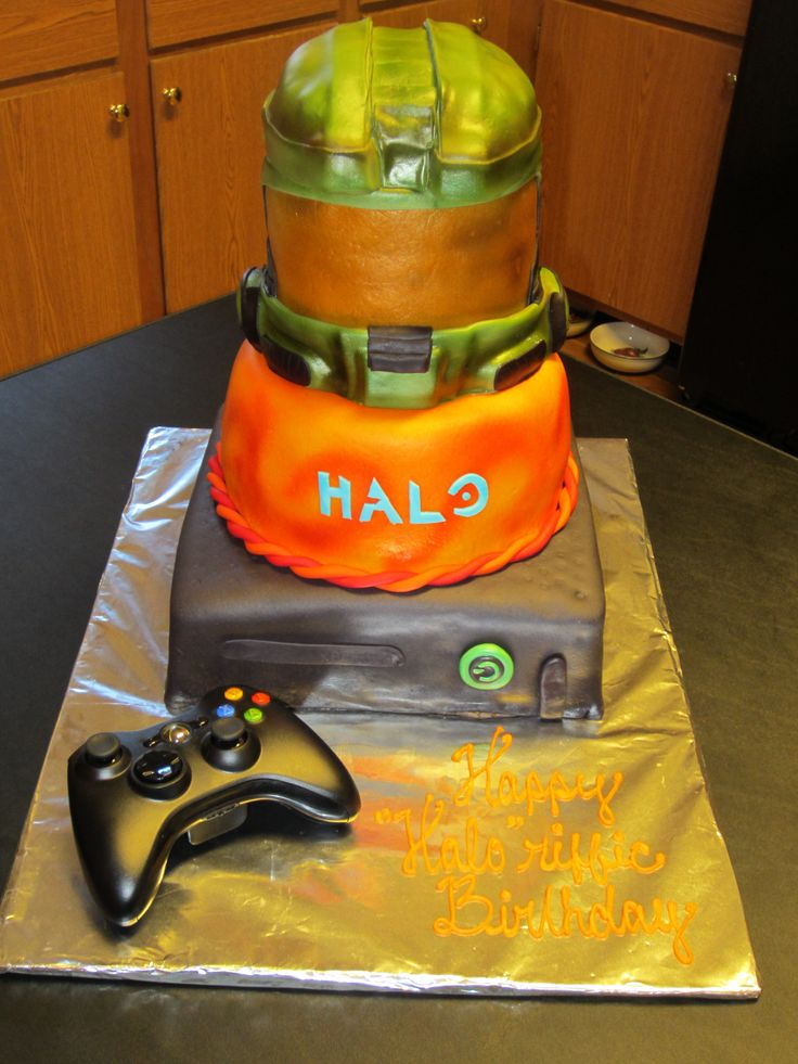 (*** http://BubbleCraze.org - Best-In-Class new Android/iPhone Game ***)  - Halo, XBOX 360 cake