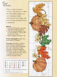 free fall pumpkin cross stitch for bookmarks   Cross stitch-Botanical