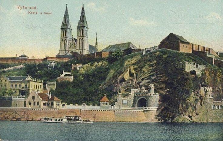 Vyšehrad tunnel - Postcard, c.1910 (photo courtesy of www.kkvys.cz)