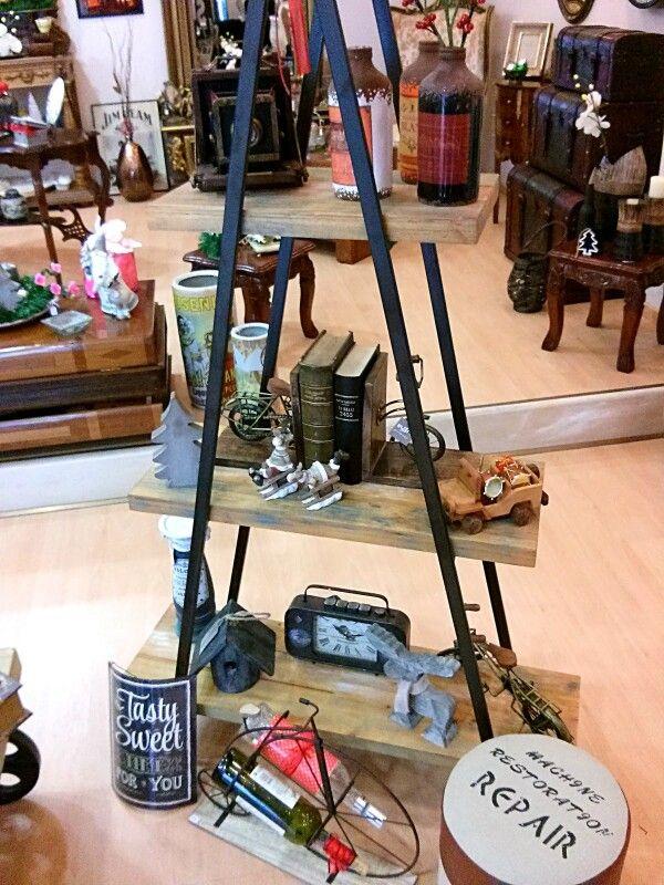 Industrial bookcase... Ladder