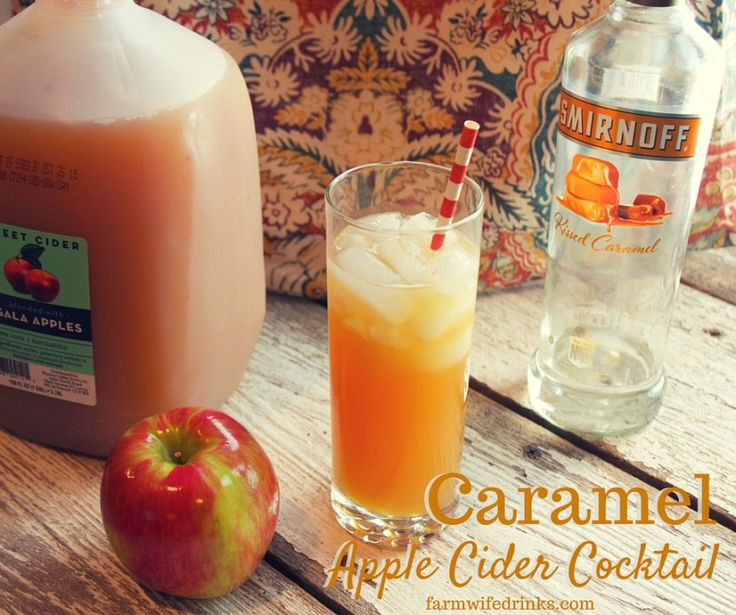 Apple Cider needs an adult version of it's fine self besides hard ciders. Caramel vodka plus apple cider brings you the best caramel apple cider cocktail recipe money can buy.