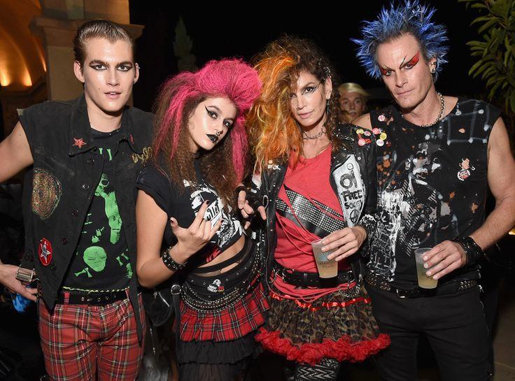 Presley Gerber, Kaia Gerber, Cindy Crawford, Rande Gerber from Stars Celebrate Halloween 2016 | E! Online