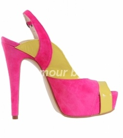 Sandale piele Roz Verde Lamaie Glamour by AT  249 Lei http://www.pantofidinpiele.ro