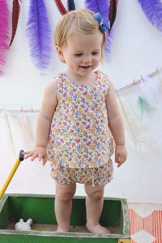 Olivier Baby & Kids - Liberty Agnes Vest Top - BubbleChops - 1