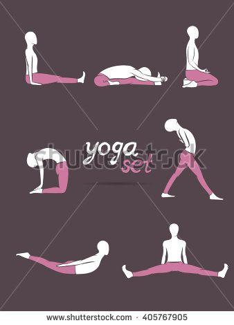 Yoga poses, yoga pants, yoga set