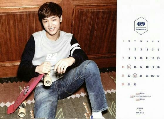 CNBLUE Calendar 2014 September