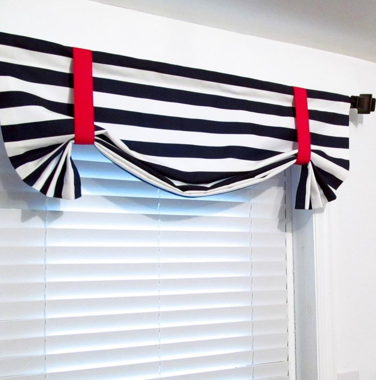 NAUTICAL Navy Blue White Tie Up Curtain Valance Premier Prints HANDMADE In  The USA By Supplierofdreams