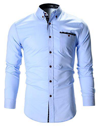 FLATSEVEN Mens Checker Pocket Stretch Casual Dress Shirts... https://www.amazon.com/dp/B01H3ERQI4/ref=cm_sw_r_pi_dp_L6cMxbPX9GK4B