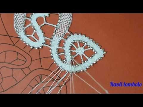 (6) Merletto a tombolo - Progetto Farfalla #6: passaggio a cavallo della biscetta - YouTube
