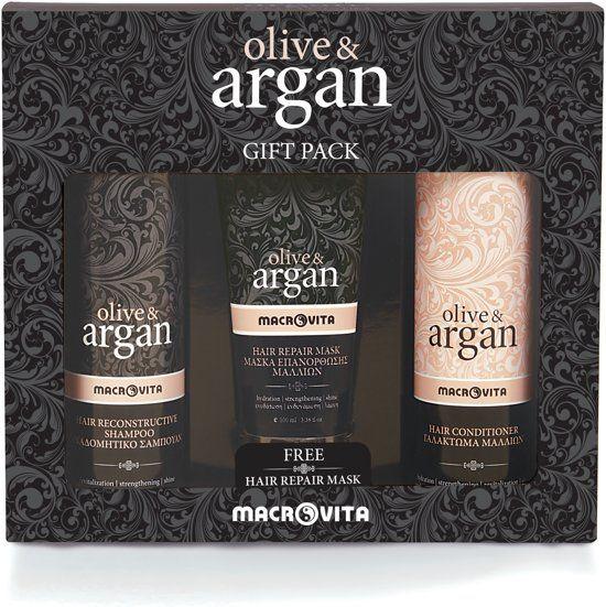 Macrovita Olive & Argan Complete Haarverzorging en andere biologische en natuurlijke cadeautips op Bolcom vind je via de Bolzoekhulp